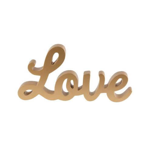 sass & belle / Dekoratívny zlatý nápis Love