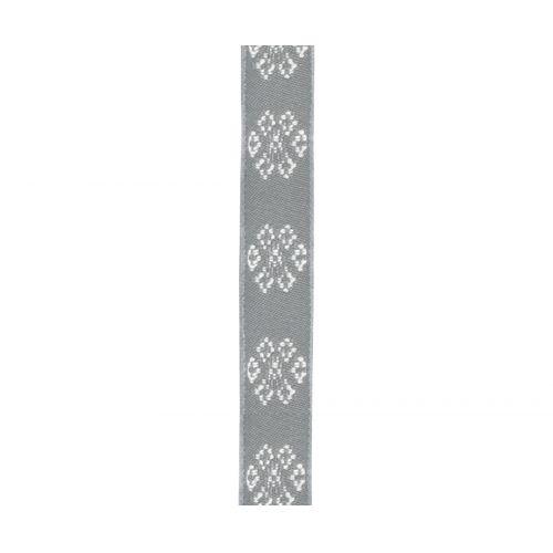 Maileg / Bavlnená stuha Snowflakes grey