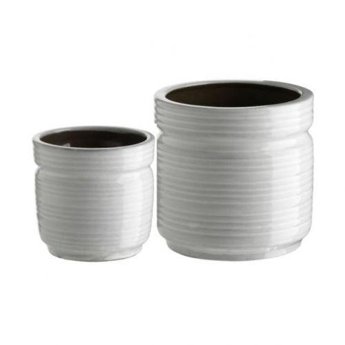 Tine K Home / Keramický kvetináčik Lines White