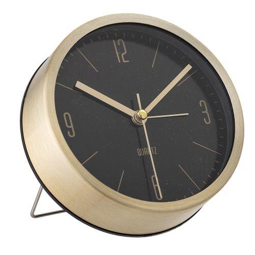 Bloomingville / Stolné hodiny Gold&Black Aluminium