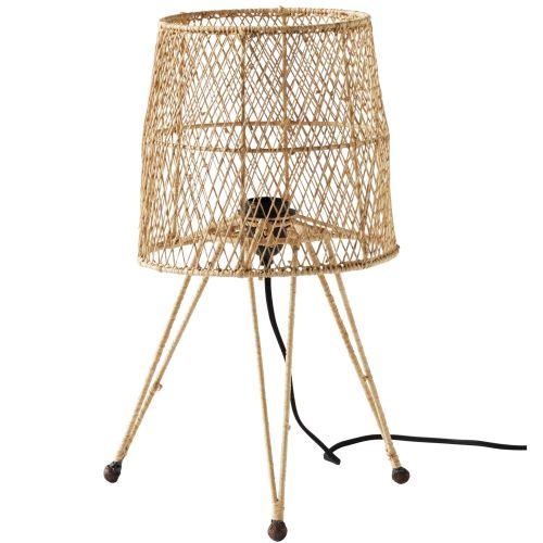 Tine K Home / Stolná lampa Iron Raffia Nature