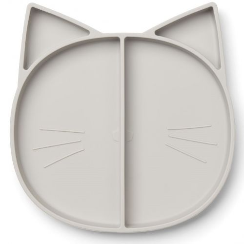 LIEWOOD / Detský silikónový tanierik Cat Dumbo Grey