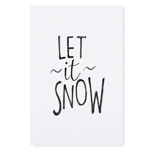 TAFELGUT / Plagát Let it Snow 30x42 cm