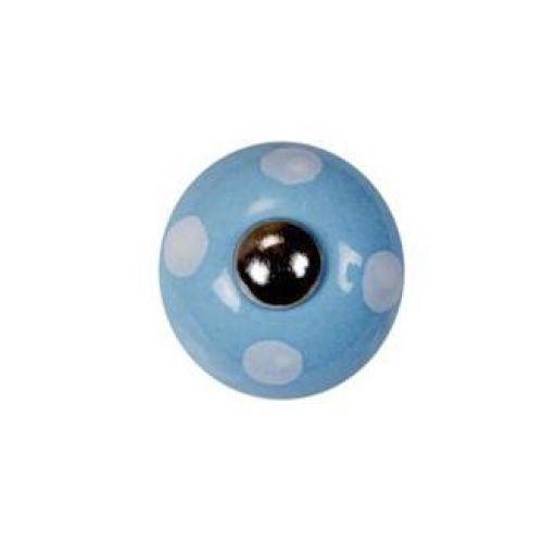 La finesse / Porcelánová úchytka Light blue/spot white