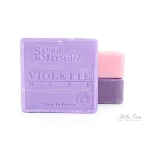 Le Chatelard / Mýdlo Marseille 100 g čtverec - fialka a ostružina