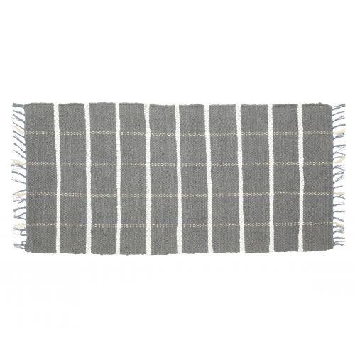 Hübsch / Tkaný koberček Grey/white 60x120 cm