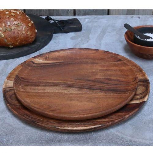 Chic Antique / Servírovací tanier Laon Accacia Wood ⌀ 25 cm