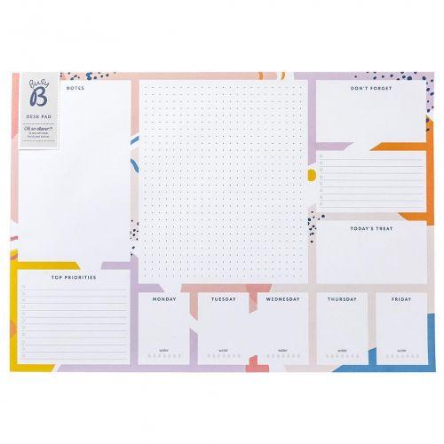 Busy B / Týždenní plánovač na stôl Bright Stripes A3