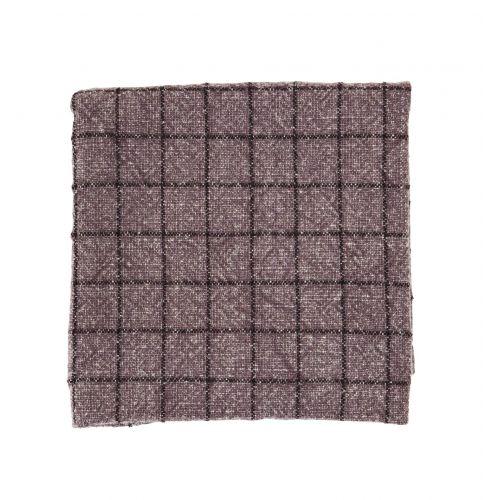 MADAM STOLTZ / Kuchynská utierka Checked Dark Purple 50×70 cm