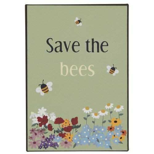 IB LAURSEN / Plechová ceduľa Save the Bees