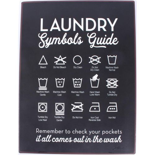 La finesse / Plechová ceduľa Laundry Guide