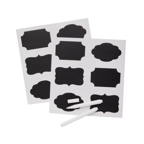 Kitchen Craft / Sada čiernych lepiacich štítkov na zaváraniny - 12 ks