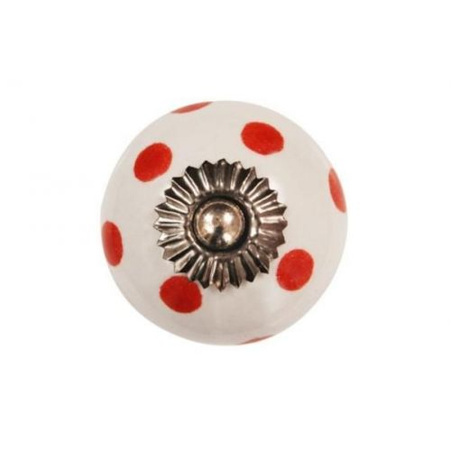 La finesse / Porcelánová úchytka Red dots