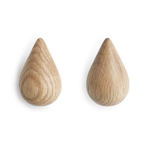 normann COPENHAGEN / Dřevěné háčky Small Drop - set 2 ks