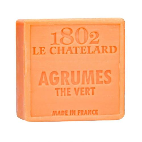 LE CHATELARD / Marseillské mydlo 100 g štvorec - citrusové plody a zelený čaj