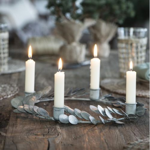 IB LAURSEN / Adventný svietnik Leaves Silver