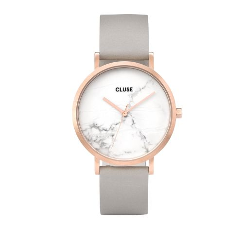 CLUSE / Hodinky Cluse La Roche Rose gold White marble/Grey