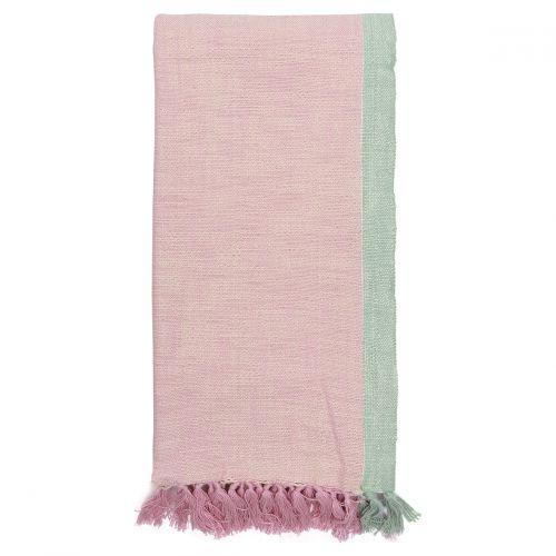 GREEN GATE / Bavlnený prehoz Minna Pale pink 130x180 cm