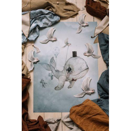 MRS. MIGHETTO / Plagát Dear Whalie 50 x 70 cm