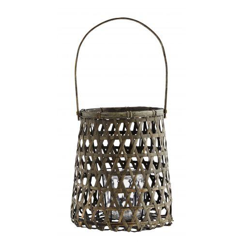MADAM STOLTZ / Bambusový lampáš natural Grey Bamboo