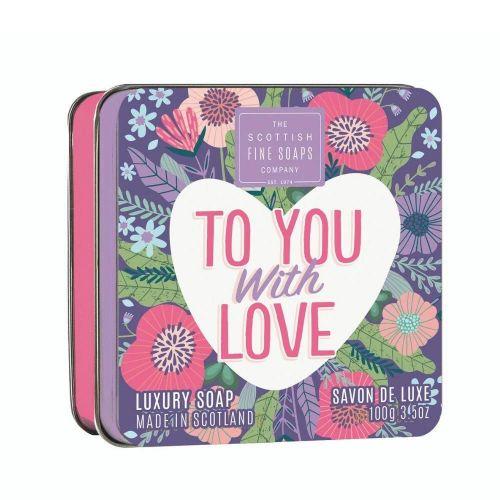 SCOTTISH FINE SOAPS / Mydlo v plechovej krabičke To You With Love 100g