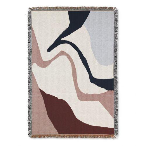 ferm LIVING / Bavlnený prehoz Vista Tapestry Blanket 120 x 170 cm