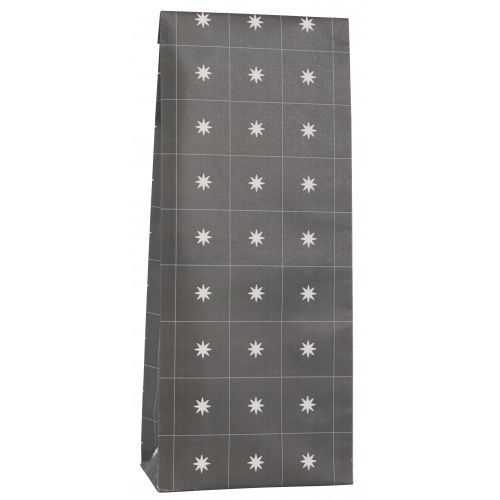 IB LAURSEN / Papierový sáčok Stars Anthracite 30,5cm