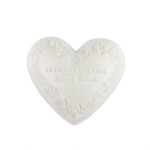 LE CHATELARD / Marseillské mydlo Heart - jazmín a mošus 100gr
