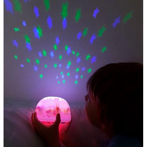 A Little Lovely Company / Detská LED lampička s projektorom nočnej oblohy Unicorn