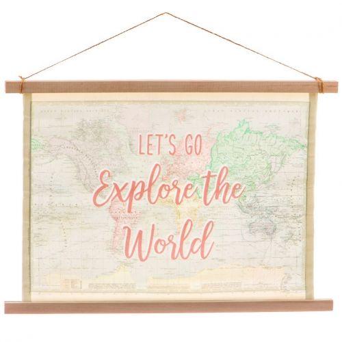 sass & belle / Plátený obraz s rámom World Explorer
