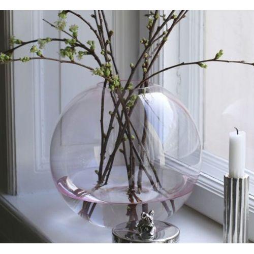 COOEE Design / Okrúhla sklenená váza Ball Glass Pink 25cm