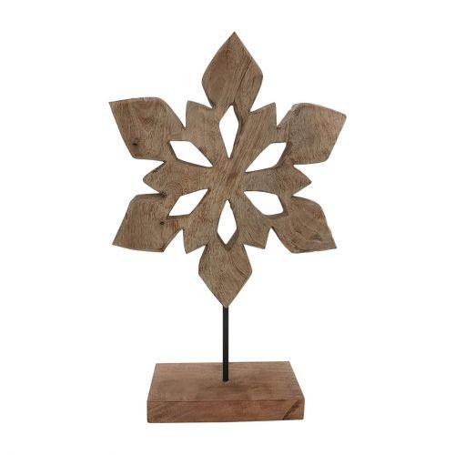 CÔTÉ TABLE / Dekoratívna drevená vločka Flocon Naturel