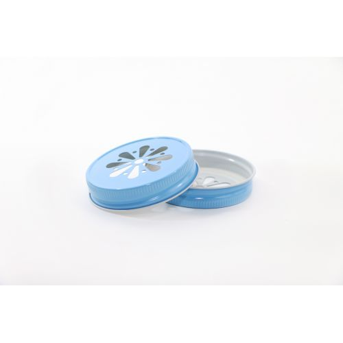 Ball / Dekoratívne kovové viečko Ball modré