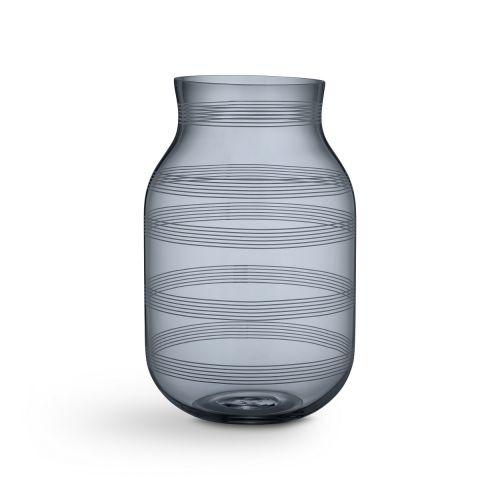 KÄHLER / Sklenená váza Omaggio Steel Blue 28 cm
