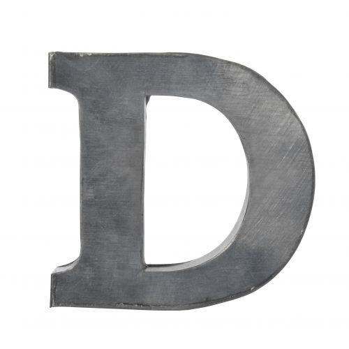 MADAM STOLTZ / Plechové písmeno D -  5,5 cm