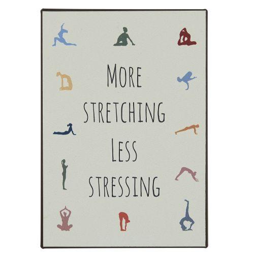 IB LAURSEN / Plechová ceduľa More Stretching