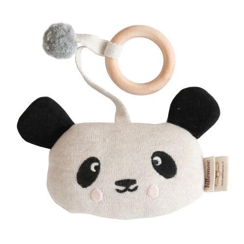 EEF lillemor / Závesná hrkálka z organickej bavlny - Panda