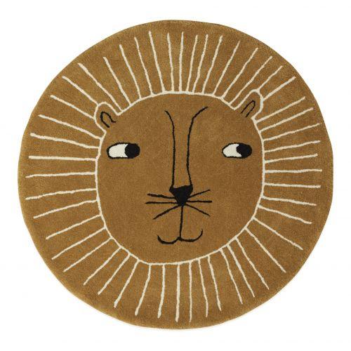 OYOY / Vlnený koberček Lion 95cm