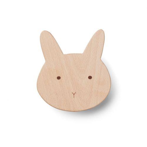 LIEWOOD / Drevený vešiak Rabbit Natural