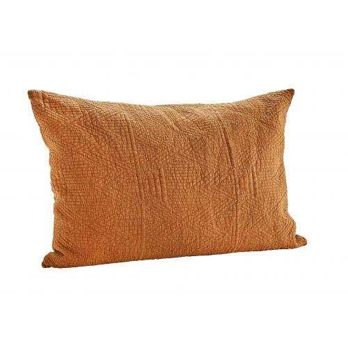MADAM STOLTZ / Obliečka na vankúš Quilted Cushion Caramel