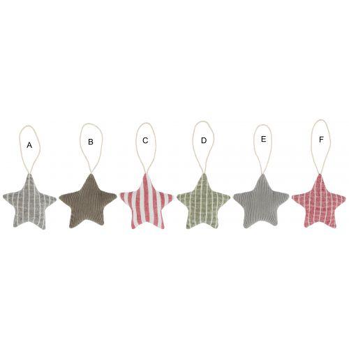 IB LAURSEN / Vianočná textilná ozdoba Textile Christmas Star