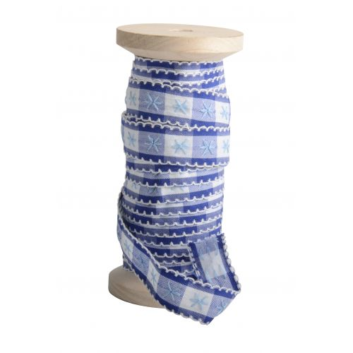 IB LAURSEN / Dekoratívna stuha Blue pattern