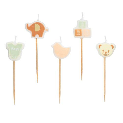 Kitchen Craft / Tortové sviečky Baby Shower Party 5 ks