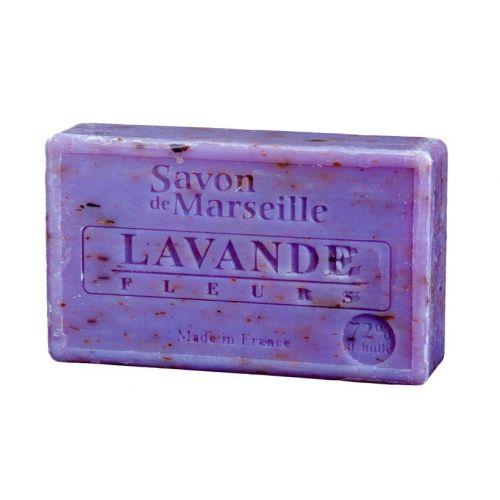 LE CHATELARD / Marseillské mydlo s peelingom 100 g - levanduľa kvet