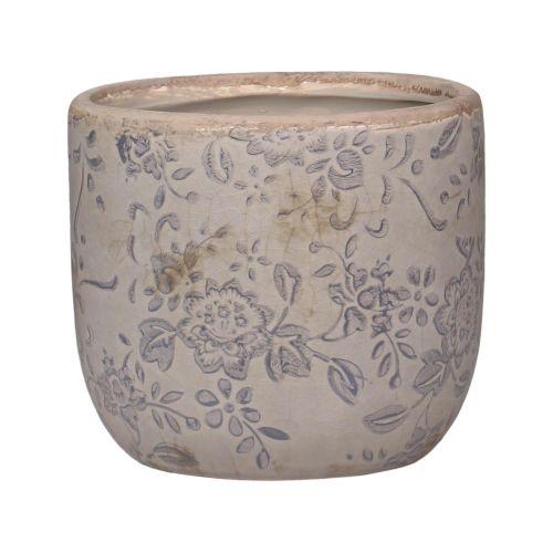 Chic Antique / Keramický obal na kvetináč Melun Grey 9 cm