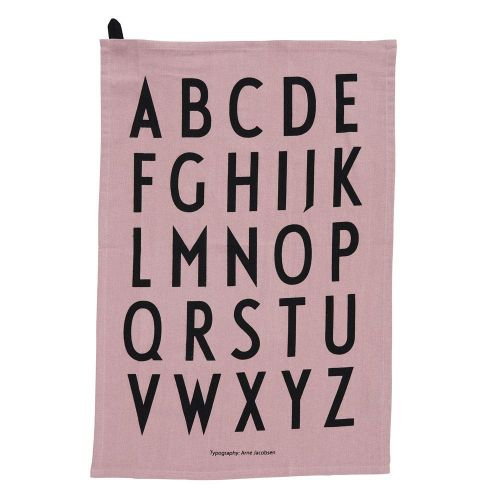 DESIGN LETTERS / Dizajnová bavlnená utierka Lavender - set 2 ks