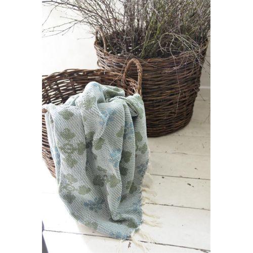 Jeanne d'Arc Living / Pléd z recyklovanej bavlny Woven Green