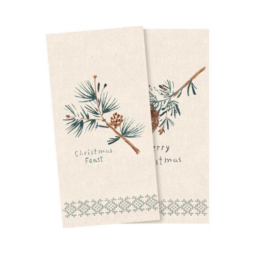 Maileg / Vianočné papierové obrúsky Pine Cones - 16 ks