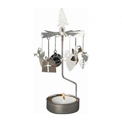 pluto produkter / Rotujúci svietnik Christmas Silver