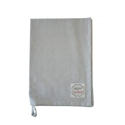 Krasilnikoff / Utierka Thin Stripes Grey 50 x 70 cm